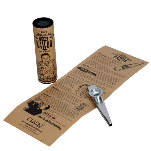 Clarke Metall-Kazoo - mit Verpackung und Anleitung